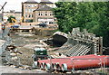 SE0713 : Huddersfield Narrow Canal, restoration works below Lock 23E (2) by John Webb