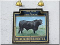 NY8383 : Sign for The Black Bull Hotel, Bellingham by Mike Quinn