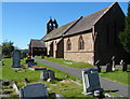 SO4383 : St Thomas's Church and churchyard, Halford by John Grayson