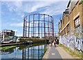 TQ3483 : Bethnal Green, gasometers by Mike Faherty