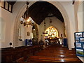 SK1274 : St Margaret's church, Wormhill - interior by Ruth Sharville