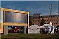 TQ4378 : Big screen, General Gordon Square   by Ian Capper