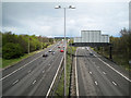 SP2086 : M6 junction 3A looking east by Robin Stott