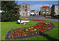 SD4161 : Floral display, Heysham village by Ian Taylor