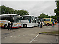 SJ7760 : Coach Park, Sandbach Services by David Dixon