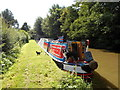 SP6263 : Working Narrow Boat Hadar moored at Muscott Mill Bridge No.18 by Keith Lodge