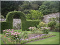 NJ7900 : The NW corner of Drum Castle's walled garden by Stanley Howe