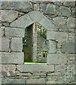 NN6193 : Window in ruin of Laggan Free Church by Dave Fergusson