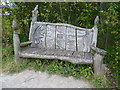 TQ5263 : Carved seat in Lullingstone Country Park : Week 37