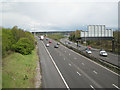 SP2186 : M6 at junction 3A looking east by Robin Stott