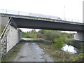 SP2186 : M6 eastbound crosses the River Blythe by Robin Stott