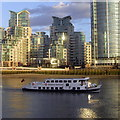 TQ3078 : The Golden Sunrise on The River Thames by PAUL FARMER