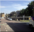 TQ3079 : Row of Garages in Sail Street Lambeth by PAUL FARMER