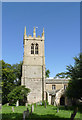 SK7452 : Rolleston church tower  by Alan Murray-Rust