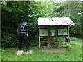 ST6857 : Statue of a miner at Camerton by Basher Eyre