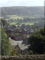 SK2381 : Hathersage view from the churchyard by Andrew Hill
