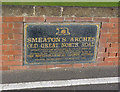 SK7856 : Smeaton's Arches, commemorative plaque  by Alan Murray-Rust
