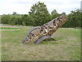 SK7952 : Queen's Sconce, cannon sculpture  by Alan Murray-Rust