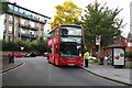 TQ2078 : Acton Green bus terminus by Dr Neil Clifton