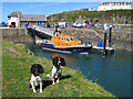 NW9954 : Portpatrick lifeboat and pontoon by Jonathan Wilkins