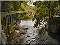 SJ9985 : Torrs Millennium Walkway, River Goyt and Weir by David Dixon