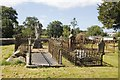 SO0864 : Fences round the graves by Bill Nicholls