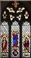 TL7258 : St Mary, Lidgate - Stained glass window by John Salmon