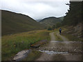 NO0888 : On the estate track heading up the glen of the Allt Connie by Karl and Ali