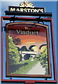 SO8374 : The Viaduct pub sign, Kidderminster by John Grayson