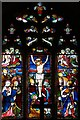 TL4052 : All Saints, Haslingfield - Stained glass window by John Salmon