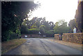 SP8027 : Road junction by Swanbourne church by John Firth