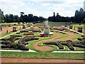 TL0935 : French Parterre Garden, Wrest Park by Paul Gillett