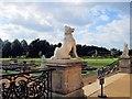 TL0935 : Dog Sculpture, Wrest Park by Paul Gillett