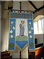 ST5859 : Holy Trinity, Bishop Sutton: banner by Basher Eyre
