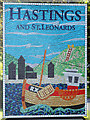 TQ8412 : Hastings and St. Leonards sign, A259 Rye Road by Oast House Archive