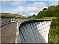 NO0003 : Crossing the dam at Castlehill Reservoir by Alan O'Dowd