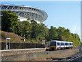 TQ1985 : Marylebone train leaves Wembley Stadium by Robin Webster