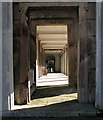 TQ2382 : Kensal Green Cemetery: colonnade by John Sutton