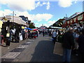 TQ5188 : Saturday morning market Romford by Richard Hoare