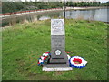 SE5901 : Commemorative stone, Doncaster Lakeside by Jonathan Thacker