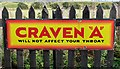 NH9922 : An old advertising sign at Broomhill Station by Walter Baxter