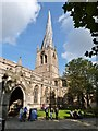 SK3871 : The most famous church spire, Chesterfield by Derek Voller