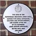 TR0161 : Plaque on John Anderson Court, Faversham by David Anstiss