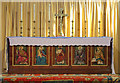 TQ5088 : St Andrew, St Andrews Road, Romford - High altar by John Salmon