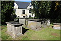 ST6895 : Chest tombs, Stone churchyard by Philip Halling