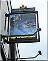 SO8555 : West Midland Tavern (2) - sign, Lowesmoor Place, Worcester by P L Chadwick