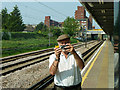 TQ4884 : Dagenham Heathway station in the mirror by Robin Webster