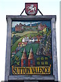TQ8149 : Close-up of Sutton Valence village sign by David Anstiss