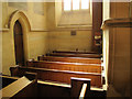 TQ4054 : Church of St James, Sunday School pews by Stephen Craven