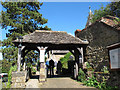 TQ4053 : Lychgate to St Peter's church by Stephen Craven